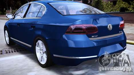 VW Passat B7 TDI Blue Motion для GTA 4 вид сзади слева