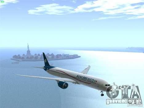 Boeing 787-8 Dreamliner AeroMexico для GTA San Andreas вид сбоку