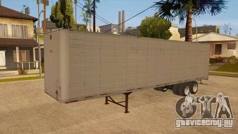 Цельнометаллический прицеп для GTA San Andreas вид сбоку