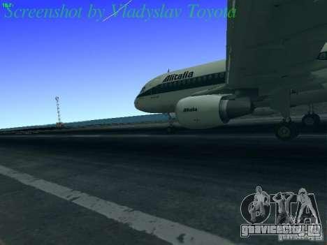 Airbus A320-214 Alitalia v.1.0 для GTA San Andreas вид сзади