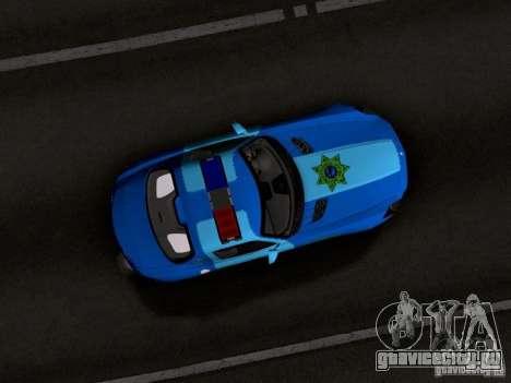 Mercedes-Benz SLS AMG Blue SCPD для GTA San Andreas вид изнутри