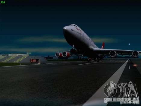 Boeing 747-4Q8 Lady Penelope для GTA San Andreas вид сбоку
