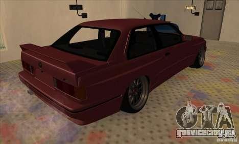 BMW M3 E30 1990 для GTA San Andreas вид справа