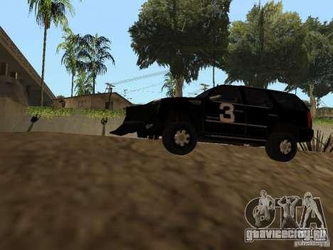 Cadillac Escalade Таллахасси для GTA San Andreas вид сзади