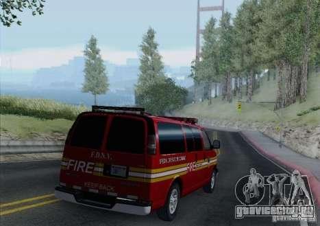 Chevrolet Express Special Operations Command для GTA San Andreas вид сбоку