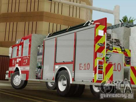 Pierce Saber LAFD Engine 10 для GTA San Andreas вид сверху
