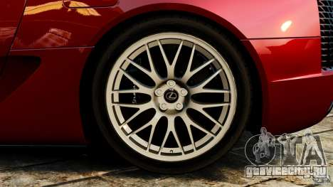 Lexus LFA 2012 Nurburgring Edition для GTA 4 вид сбоку