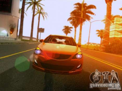 Opel Astra Senner Lower Project для GTA San Andreas вид сзади