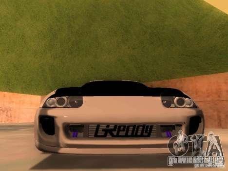 Toyota Supra GTS для GTA San Andreas вид сзади
