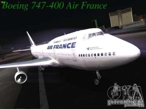 Boeing 747-400 Air France для GTA San Andreas