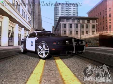 Ford Mustang GT 2011 Police Enforcement для GTA San Andreas вид слева