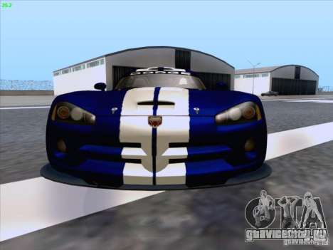 Dodge Viper GTS-R Concept для GTA San Andreas вид снизу