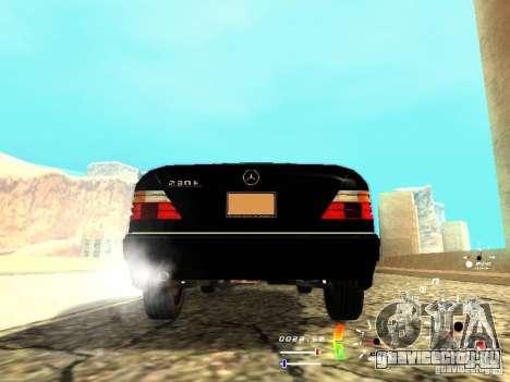 Mercedes-Benz 230E для GTA San Andreas вид сзади слева