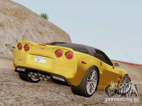 Chevrolet Corvette ZR1 для GTA San Andreas вид сзади слева