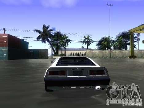 Lotus Esprit Turbo для GTA San Andreas вид изнутри