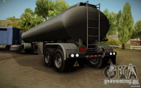 Прицеп от Mack Pinnacle Rawhide Edition для GTA San Andreas вид слева