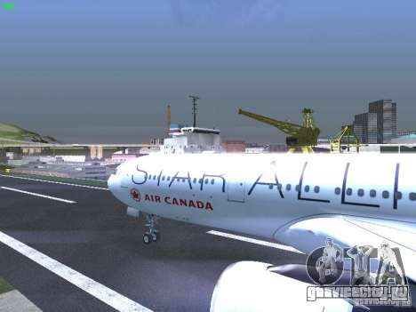 Airbus A330-300 Air Canada для GTA San Andreas вид изнутри