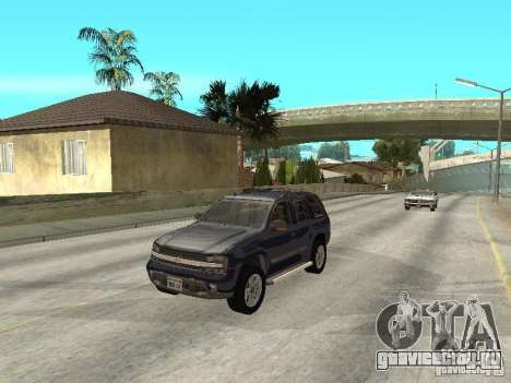 Chevrolet TrailBlazer 2003 для GTA San Andreas вид изнутри