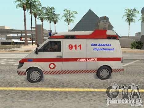 Ford Transit Ambulance для GTA San Andreas вид слева