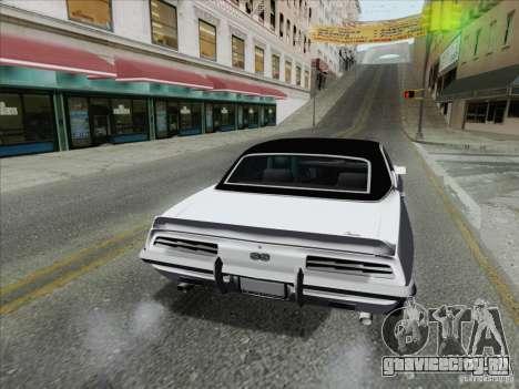 Chevrolet Camaro SS 1969 для GTA San Andreas вид сзади слева
