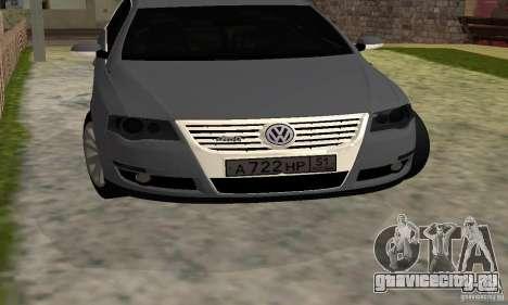 Volkswagen Passat B6 Variant для GTA San Andreas вид сзади