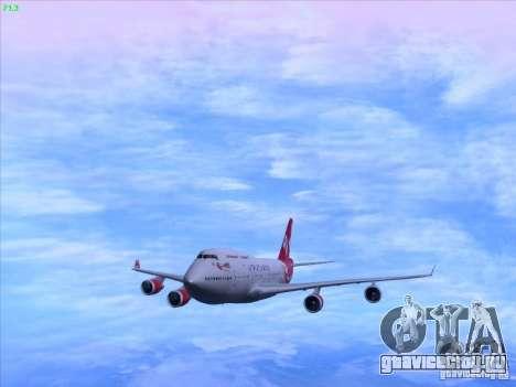 Boeing 747-4Q8 Lady Penelope для GTA San Andreas вид сзади слева