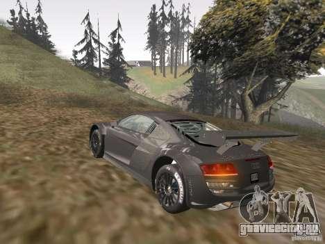 Audi R8 LMS v3.0 для GTA San Andreas вид изнутри