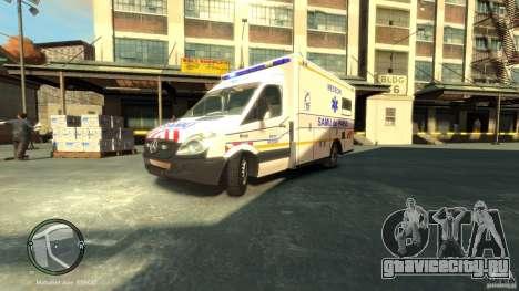 Mercedes-Benz Sprinter Ambulance для GTA 4 вид слева