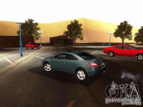 Honda Civic Si 2007 для GTA San Andreas вид сзади слева