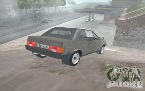 ВАЗ 2108 Наташа для GTA San Andreas вид сзади слева