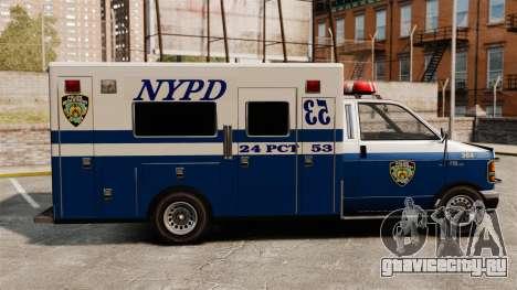 Новый фургон полиции для GTA 4 вид слева
