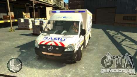 Mercedes-Benz Sprinter Ambulance для GTA 4