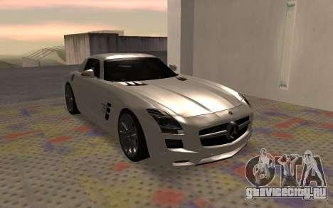 Mercedes-Benz SLS AMG 2010 для GTA San Andreas вид справа