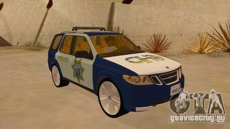 Saab 9-7X Police для GTA San Andreas вид сзади