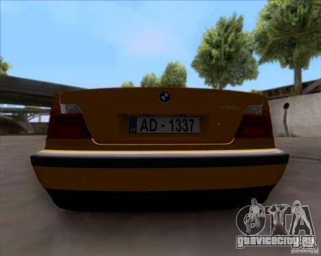 BMW 730i E38 1996 Taxi для GTA San Andreas вид сзади
