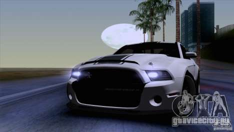 Ford Shelby GT500 Super Snake для GTA San Andreas вид изнутри