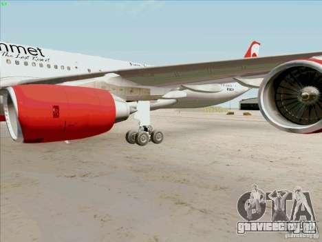 Airbus A-340-600 Plummet для GTA San Andreas вид изнутри