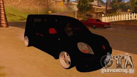 Renault Kangoo для GTA San Andreas вид сзади
