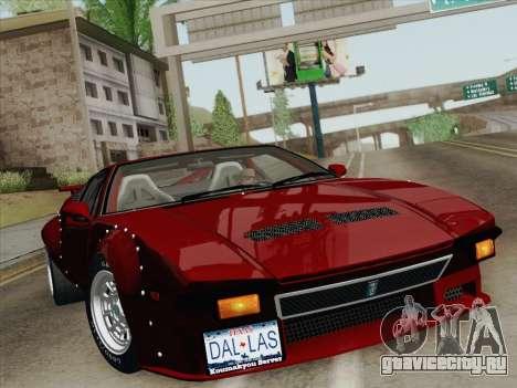 De Tomaso Pantera GT4 для GTA San Andreas двигатель
