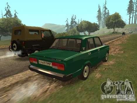 ВАЗ 2107 1988 для GTA San Andreas вид сзади слева
