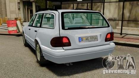Mercedes-Benz W210 Wagon для GTA 4 вид сзади слева