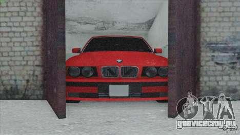 BMW 525i E34 для GTA San Andreas вид сбоку