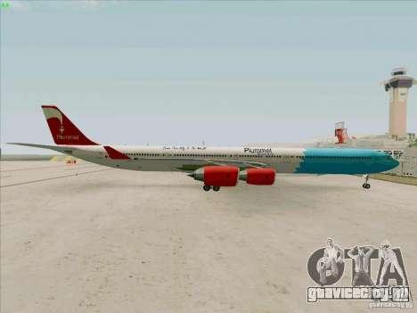 Airbus A-340-600 Plummet для GTA San Andreas вид справа