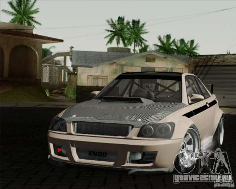 GTAIV Sultan RS FINAL для GTA San Andreas вид сзади слева