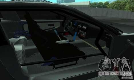 Nissan 200SX Turbo для GTA San Andreas вид изнутри