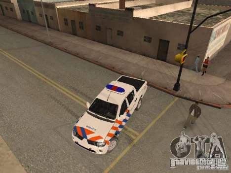 Mitsubishi L200 Police для GTA San Andreas вид справа