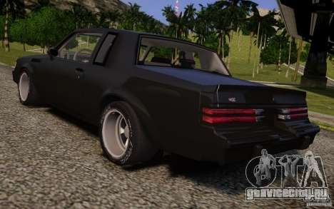 Buick Regal Grand National 1987 для GTA 4 вид слева