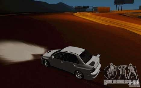 Mitsubishi Lancer Evo VIII GSR для GTA San Andreas вид сбоку