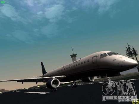 Embraer ERJ 190 USAirways для GTA San Andreas вид слева