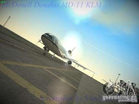 McDonnell Douglas MD-11 KLM Royal Dutch Airlines для GTA San Andreas вид сбоку